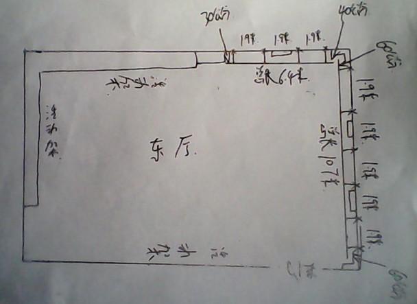 东厅舞蹈把杆: 东厅手绘图
